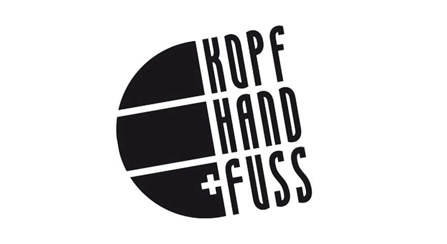 Das ist ein Logo von Kopf Hand und Fuss